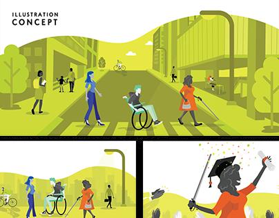 Storyboard & Concept - Accessibility job platform