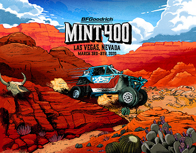 The mint 400 Illustrations