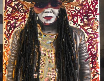 """Soopa Doopa Queen Qoopa Part 1"" Painting"