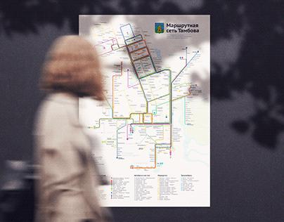 Маршрутная сеть Тамбова | Tambov Transport Map