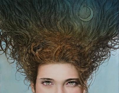 La rinascita della Luna - olio su tela, 50x70