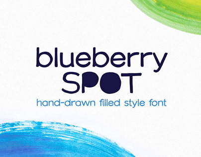 Blueberry Spot font