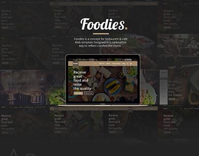 Foodies.| Food & Restaurant template concept