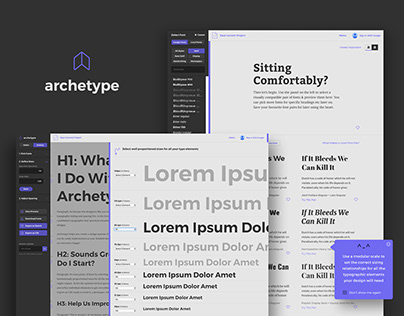 Archetype - Beautiful Typography Design Systems