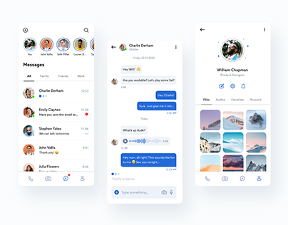 Messenger App UI Design
