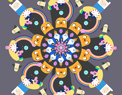 Adventure Time fan art mandala