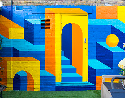 Toy Block Mural Painting