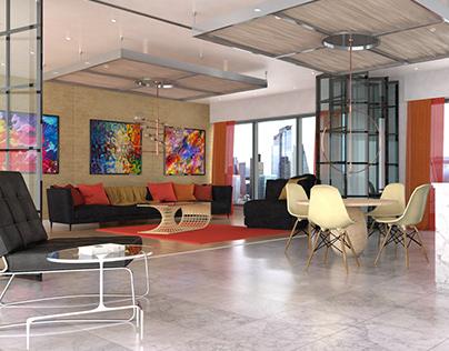 Luxury Apartment Canary Wharf London CGI Render