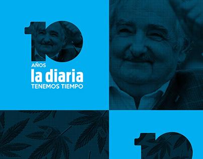la diaria   Logo 10 años