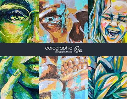 Art summery Portraits #carographic by Carolyn Mielke