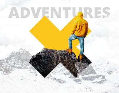 10Adventures | Travel website & logo