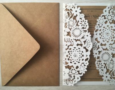 Eco wedding invitation