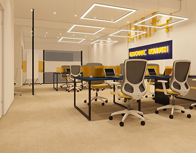 Office Interior Designed By Hafsa and Render By Wahab