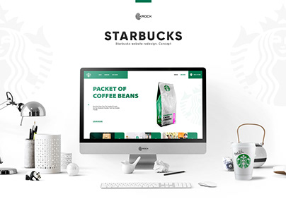 Starbucks website redesign. Concept