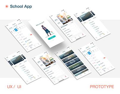 UX/UI design for school management system