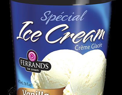 Ferrands ice cream package