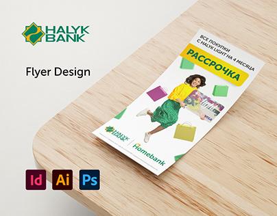 Halyk Bank Flyer Design