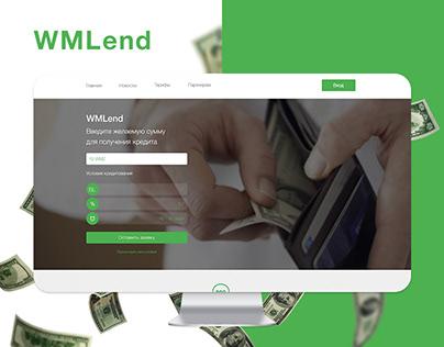 WMLend - website design