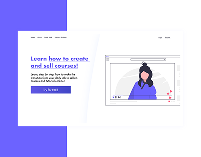 Landing Page for Selling Courses - Web Design