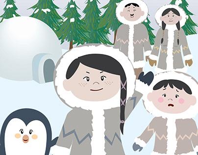 Aju the inuit girl