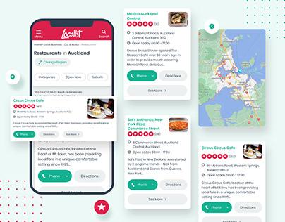 Localist Web UI
