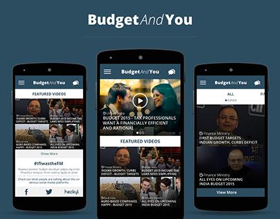 BudgetAndYou - Microsite