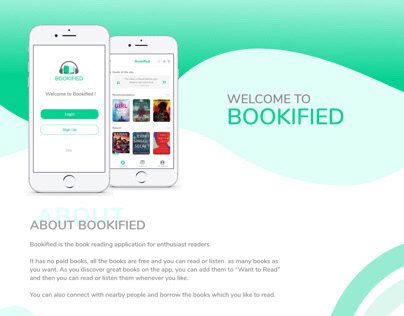 Bookified-UX case study to UI