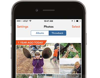 Shutterfly Mobile - Photo Throwback Feature (2015)