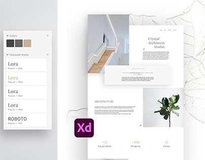 Architectural Adobe XD Website Template