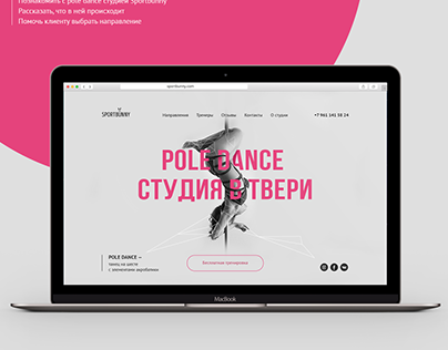 Website case for pole dance studio