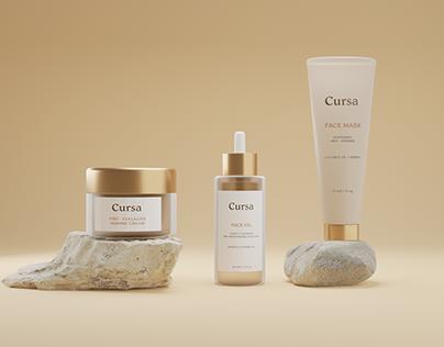Cursa - Cosmetic Packaging Branding Design