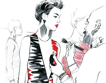Illustrative report from Milan FW for Vogue.ru