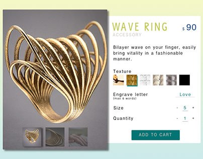 UI Challenge 033 Customize Your Wave Ring
