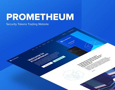 PROMETHEUM - Fintech Promo Website