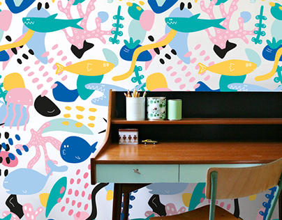 TA-PE-TY Underwater Wallpaper Design