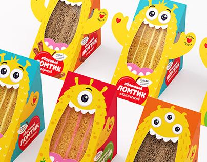 """Design of children's pastilles TM """"Babushka knows"""""""