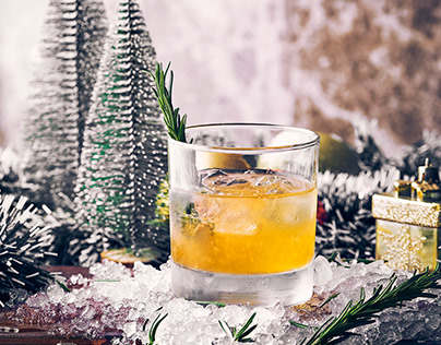 it's too icy for christmaths - Beverage photography