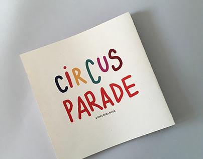 BOOK PROJECT Circus parade concertina book
