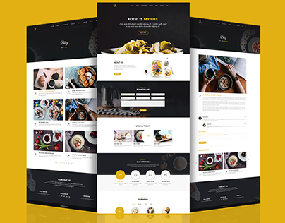 Coffee Website template design