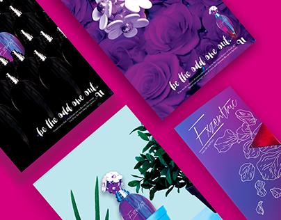 EXZENTRIC Print Ad Series & Brochure