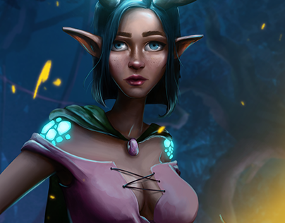 Miranda - Character design digital painting (concept)