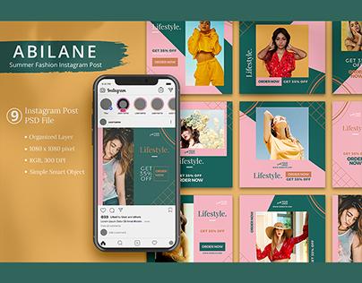 Abilane - Summer Fashion Instagram Post Template