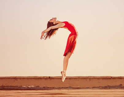 Ballerina. Sun and Moon.
