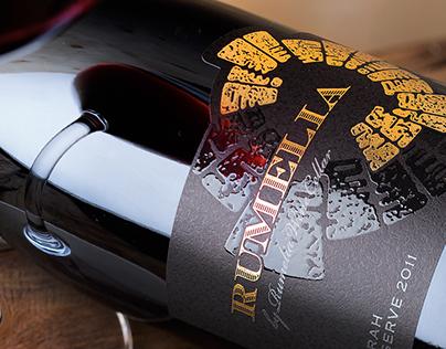 Rumelia Syrah wine label design by the Labelmaker