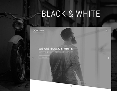 Black&White - Creative HTML5 Template