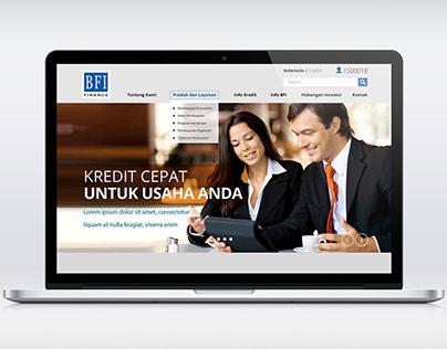 Website Mockup for PT BFI Finance Indonesia Tbk