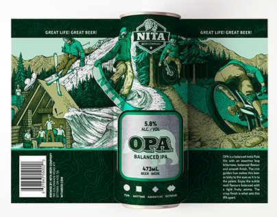 Nita Beer Co. Can Designs