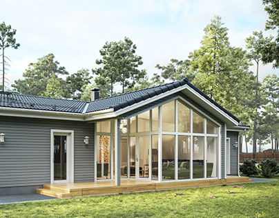 Finnish Houses Visualization Series. House №9