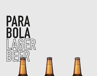 Parabola lager beer label