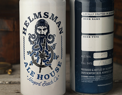 Helmsman Ale House Logo & Packaging Design